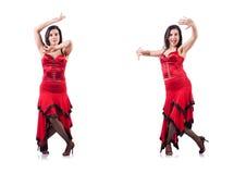 The female dancer dancing spanish dances Stock Photography