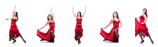 The female dancer dancing spanish dances Stock Photos
