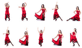 The female dancer dancing spanish dances Royalty Free Stock Image