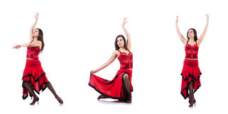 The female dancer dancing spanish dances Stock Photography