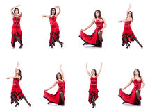 The female dancer dancing spanish dances Stock Images