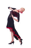 Female dancer dancing Royalty Free Stock Images