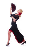 Female dancer dancing Stock Photos