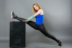 Female dancer doing warmups Stock Photography