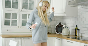Female dancer at home Stock Photography