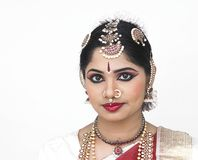 A female dancer from india Stock Images
