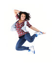 Female dancer jumping Royalty Free Stock Photos
