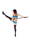 Female Dancer Leg Kick Stock Images