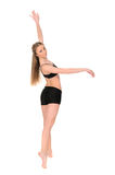 Female dancer in movement Royalty Free Stock Image
