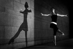 Female dancer in the outdoor Stock Image