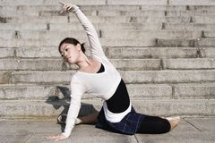 Female dancer in the outdoor Royalty Free Stock Images
