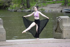 Female dancer outdoors Stock Photography
