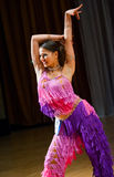 Female dancer performs. At dance championship Royalty Free Stock Image