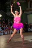 Female dancer performs. At dance championship Stock Image
