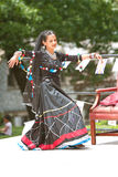 Female Dancer Performs Indian Dance At Festival Royalty Free Stock Image