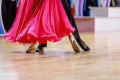 female dancer in pink dress royalty free stock photos