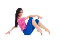 Female dancer relaxing Royalty Free Stock Images