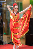 The female dancer in SHEKOU SHENZHEN Royalty Free Stock Photos