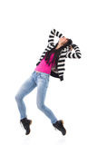 Female dancer standing on a toes Royalty Free Stock Photos