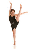 Female Dancer Studio Photo on White Royalty Free Stock Photos