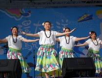 Female Dancers Perform a Hawaiian Dance Stock Photos
