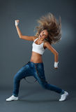 Female dancing jazz modern dance Royalty Free Stock Photography