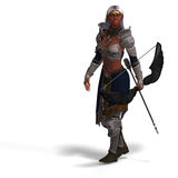 Female dark elf archer Royalty Free Stock Photography