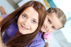 Female with daughter Royalty Free Stock Images