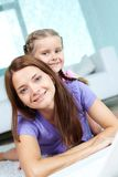 Female with daughter Royalty Free Stock Photography