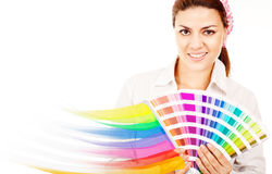 Female decorator Royalty Free Stock Photography