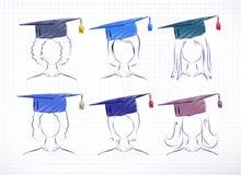 Female degree students Stock Photos