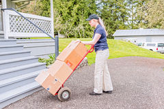 Female delivery person Royalty Free Stock Photo