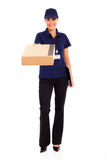 Female delivery worker Royalty Free Stock Images