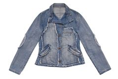 Female denim jacket Stock Image