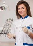 Female dentist at dentist's surgery Stock Photo