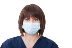 Female dentist doctor on white background Stock Photo