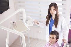 Female dentist at work Royalty Free Stock Photo