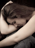 Female with Depression Stock Photography