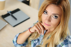 Female designer in office Royalty Free Stock Photography