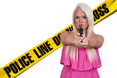 Female Detective Royalty Free Stock Photography