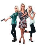 Female Detectives Stock Photo