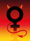 Female Devil Bad Girl Sign Stock Images