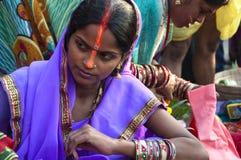 Female devotee Stock Photos
