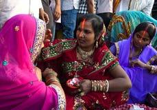 Female devotees Stock Photos