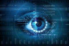 Female digital eye Stock Photos