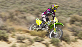 Female Dirt Bike Racer Stock Images