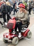 Female on disable car Stock Photos