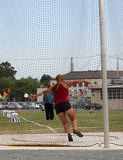 Female Discus thrower Royalty Free Stock Image