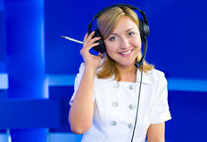 Female dispatcher Royalty Free Stock Images