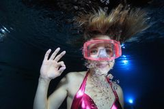 Female diver Royalty Free Stock Images